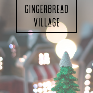 Gingerbread Village - Hand Made Cold Process Soap - Round